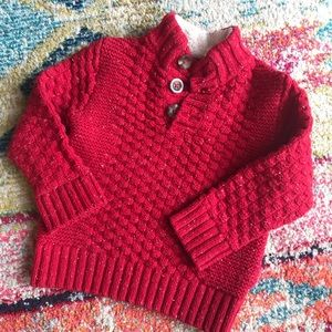 Red Cable-Knit Sweater 2T